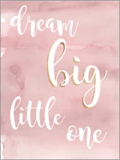 Holzbild  Dream big little one (Rosa) - Studio W