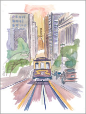 Acrylglasbild  Cable Car in San Francisco - M. Bleichner