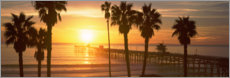 Holzbild  San Clemente Pier in Los Angeles County