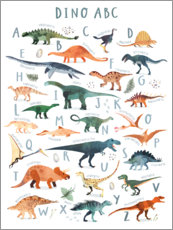 Gallery Print  Fröhliches Dinosaurier ABC - Victoria Borges