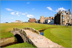 Wandsticker  Golfplatz in St. Andrews - Bill Bachmann