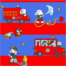 Wandsticker  Tier Feuerwehr - Fluffy Feelings