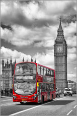 Wandsticker  Big Ben and Red Bus - Melanie Viola