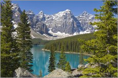 Wandsticker  Moraine Lake vor Bergen - Paul Thompson