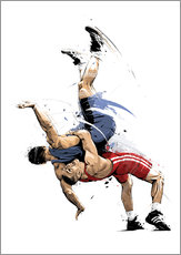 Gallery Print  Wrestling - tom