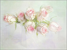 Gallery Print  pretty pink roses - Lizzy Pe