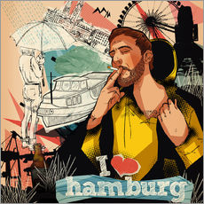 Gallery Print  I love Hamburg - Sugah