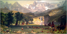 Albert Bierstadt - Indianerlager in den Rocky Mountains