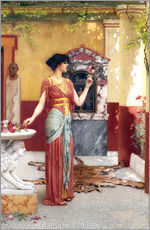Wandsticker  Der Blumenstrauß - John William Godward