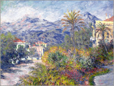 Leinwandbild  Villas at Bordighera - Claude Monet
