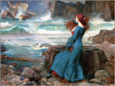 Leinwandbild  Miranda, das Unwetter - John William Waterhouse
