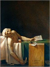 Wandsticker  Der Tod des Marat - Jacques-Louis David