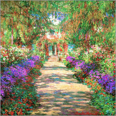 Wandsticker  Weg in Monets Garten in Giverny - Claude Monet