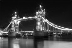Wandsticker  Tower Bridge by Night sw - Melanie Viola