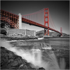 Wandsticker  Golden Gate Bridge Fort Point - Melanie Viola