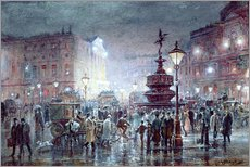 Gallery Print  Piccadilly Circus abei Nacht, 1911 - Thomas Prytherch