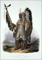 Gallery Print  Mato-Tope, a Mandan Chief, plate 13 from Volume 2 of 'Travels in the Interior of North America', eng - Karl Bodmer
