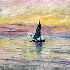Gallery Print  Segelboot am Abend - Claude Monet