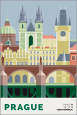 Wandsticker prague skyline