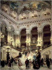 Gallery Print  Treppen der Oper in Paris - Louis Beraud