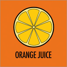 Wandsticker Orange Juice / Orangensaft