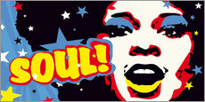 Wandsticker  Soul! for the funky world - JASMIN!