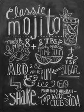 Wandsticker  Mojito Rezept (Englisch) - Lily & Val