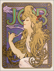 Wandsticker  Job, gold - Alfons Mucha