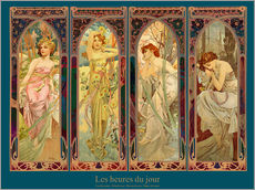 Gallery Print  Les heures du jour, Collage - Alfons Mucha