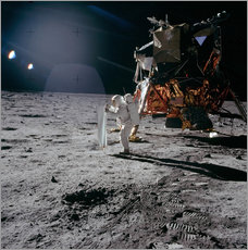 Wandsticker  Apollo 11, Moonwalk