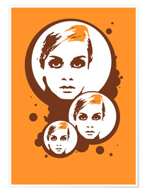 Premium-Poster Twiggy Mathmos Orange