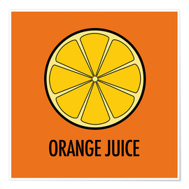 Premium-Poster Orange Juice / Orangensaft