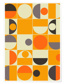 Premium-Poster  panton orange - Mandy Reinmuth