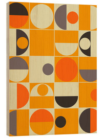 Holzbild  panton orange - MiaMia
