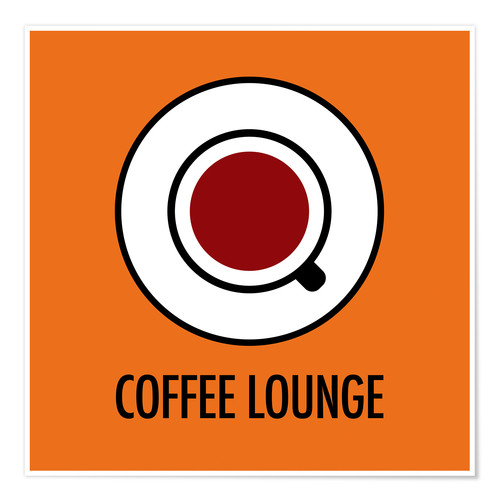 Premium-Poster Coffee Lounge, orange