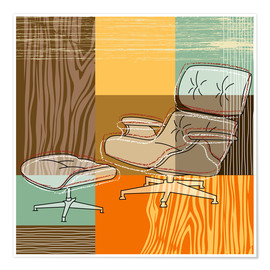 Premium-Poster Lounge Chair V
