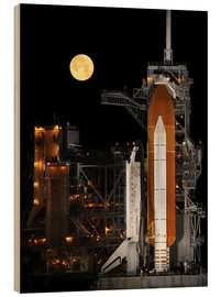 Holzbild  Space Shuttle Discovery