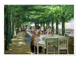 Max Liebermann - Terrasse vom Restaurant Jacob in Nienstedten an der Elbe