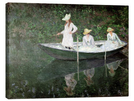 Leinwandbild  Boot bei Giverny - Claude Monet
