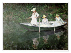Premium-Poster  Boot bei Giverny - Claude Monet