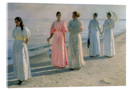 Acrylglasbild  Damen am Strand - Michael Peter Ancher