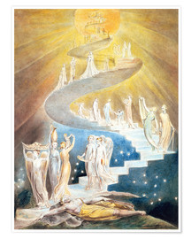Premium-Poster  Jakobsleiter - William Blake