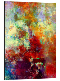Alubild  Stained paint - Wolfgang Rieger