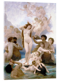Acrylglas  Geburt der Venus - William Adolphe Bouguereau