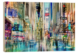 Holzbild  times square USA NYC New York Collage - Städtecollagen