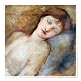 Poster  Schlafende Prinzessin - Edward Burne-Jones