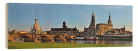 Holzbild  Dresden Canaletto Blick - FineArt Panorama