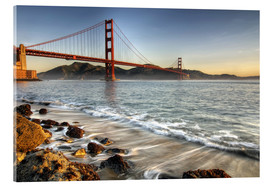 Acrylglasbild  Blick zur Golden Gate Bridge - David Svilar
