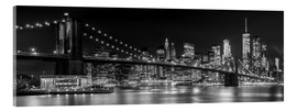 Acrylglasbild  New York City Night Skyline - Melanie Viola