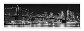 Melanie Viola - New York City Night Skyline